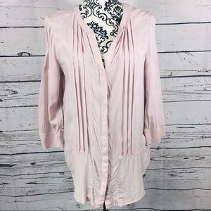 Anthropologie Maeve 3/4 sleeve v-neck tunic blouse